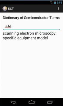 Dict of Semiconductor Terms apk screenshot
