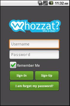 Free sms by whozzat poster