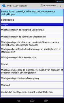 Nederlandse Wetboeken apk screenshot