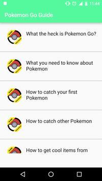 Tricks for Pokemon Go Beta apk screenshot