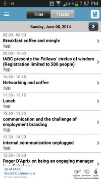 IABC World Conference 2014 apk screenshot