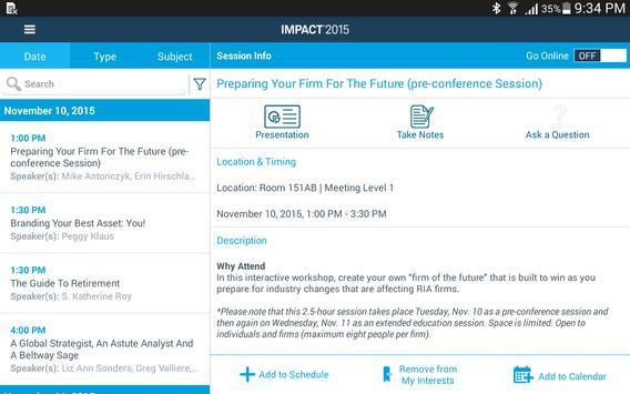 IMPACT 2015 apk screenshot