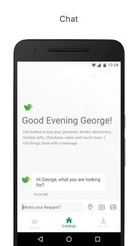Lookup: Order anything on chat poster