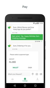 Lookup: Order anything on chat apk screenshot