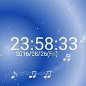 音符 デジタル卓上 時計 白い 音符 無料版 icon
