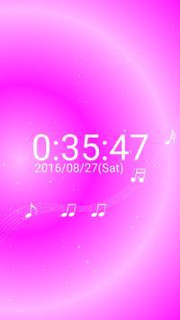 音符 デジタル卓上 時計 白い 音符 無料版 apk screenshot
