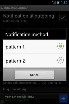 Notification of talk time apk screenshot