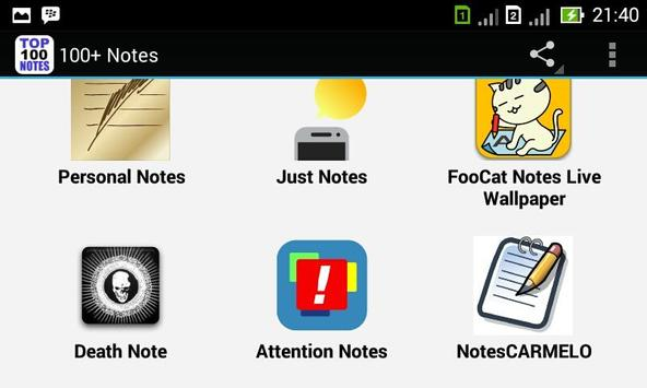 100+ Notes apk screenshot