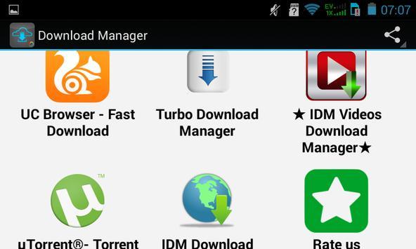 Top Download Manager apk screenshot