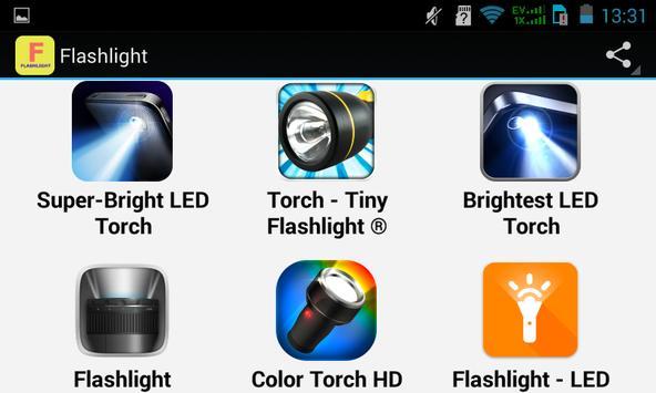 Top Flashlight Apps apk screenshot