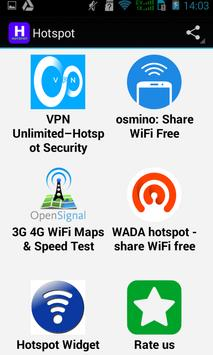 Top Hotspot Apps apk screenshot