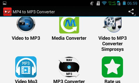 Top Mp4 to Mp3 Converter apk screenshot