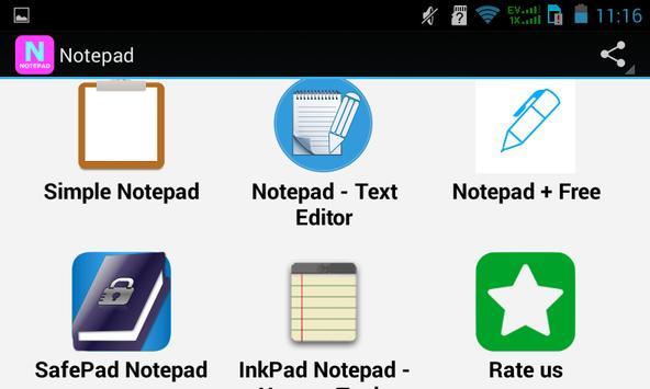 Top Notepad Apps apk screenshot