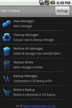 SMS Cleaner Free poster