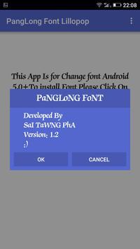 PL Font Lillopop apk screenshot