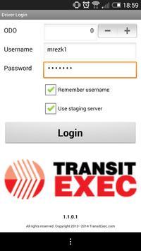 TransitExec Driver App poster
