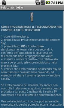 Codici Tv - telecomando Sky apk screenshot