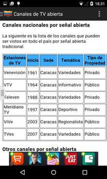 Televisiones de Venezuela apk screenshot