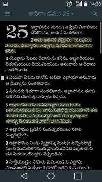 Telugu Holy Bible apk screenshot