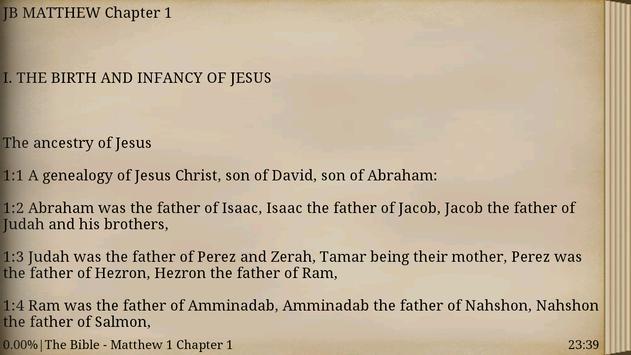 Jerusalem Bible. New Testament apk screenshot