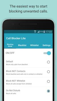 Call Blocker Lite poster