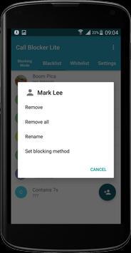 Call Blocker Lite apk screenshot