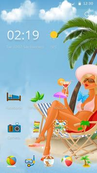 Beach and beauty poster