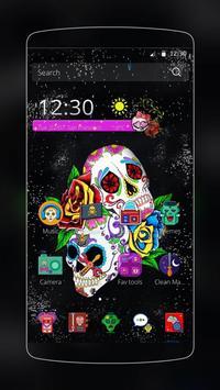 Sugar Skull Theme apk screenshot