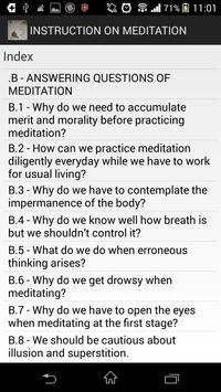 Instruction on Meditation apk screenshot