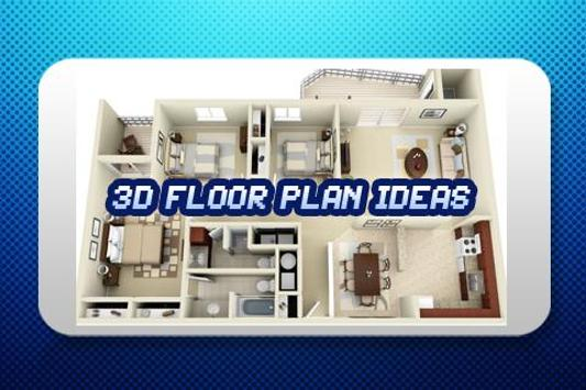 3D Floor Plan Ideas Free poster