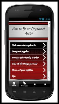 Be an Organized Artist poster