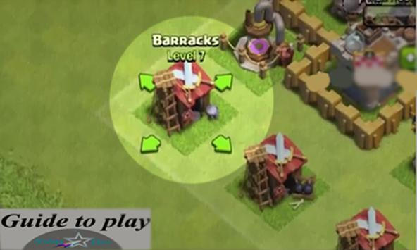 Guide;play clash of Clans poster