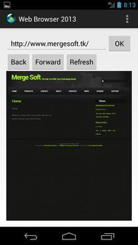 Web Browser 2013 apk screenshot