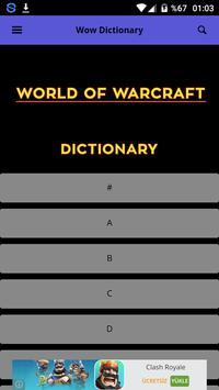 Dictionary World of Warcraft poster