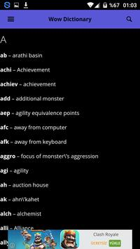 Dictionary World of Warcraft apk screenshot