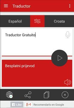 Traductor Croata Español apk screenshot