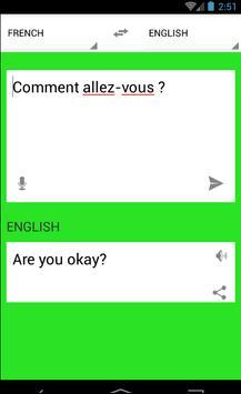 Traduction Français Anglais apk screenshot