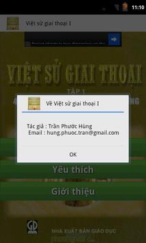 Việt Sử Giai Thoại I apk screenshot