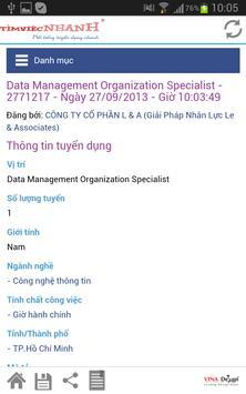Tim Viec Nhanh - web viec lam apk screenshot