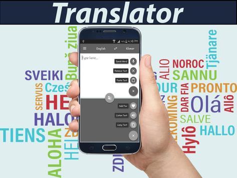 English Khmer translator apk screenshot