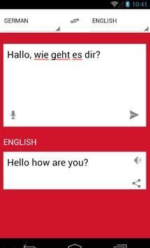 Übersetzen deutsch englisch apk screenshot
