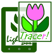 Tracer!  Lightbox drawing app icon