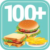 100+ Recipes Fast food icon