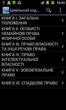 Цивільний кодекс України poster