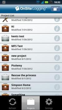 OnSite Logging apk screenshot