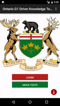 Ontario G1 Test Prep poster