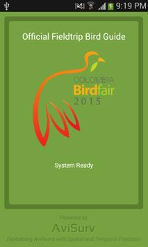 Colombia Birdfair 2015 Guide poster