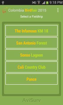 Colombia Birdfair 2015 Guide apk screenshot
