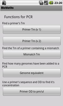 BioMaths apk screenshot