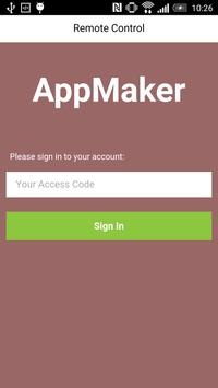 AppMaker Remote Control apk screenshot